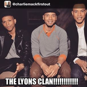 The Lyon Sons Hakeem (Bryshere Gray-L), Jamal (Jussie Smollet-C), Andre (Trai Byers-R) Photo Courtesy of Charliemackfirstout