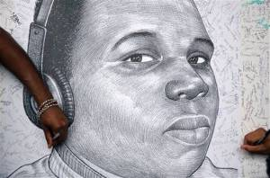 Sketch of Mike Brown Jr. Photo by kansascity.com