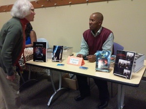Mingling with fans & book readers