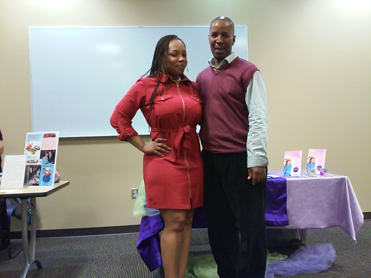 F. Kenneth Taylor w/Author & TV/Radio Personality, Sinita Wells - 8th Annual Author Shout Out - St. Louis, MO 2015