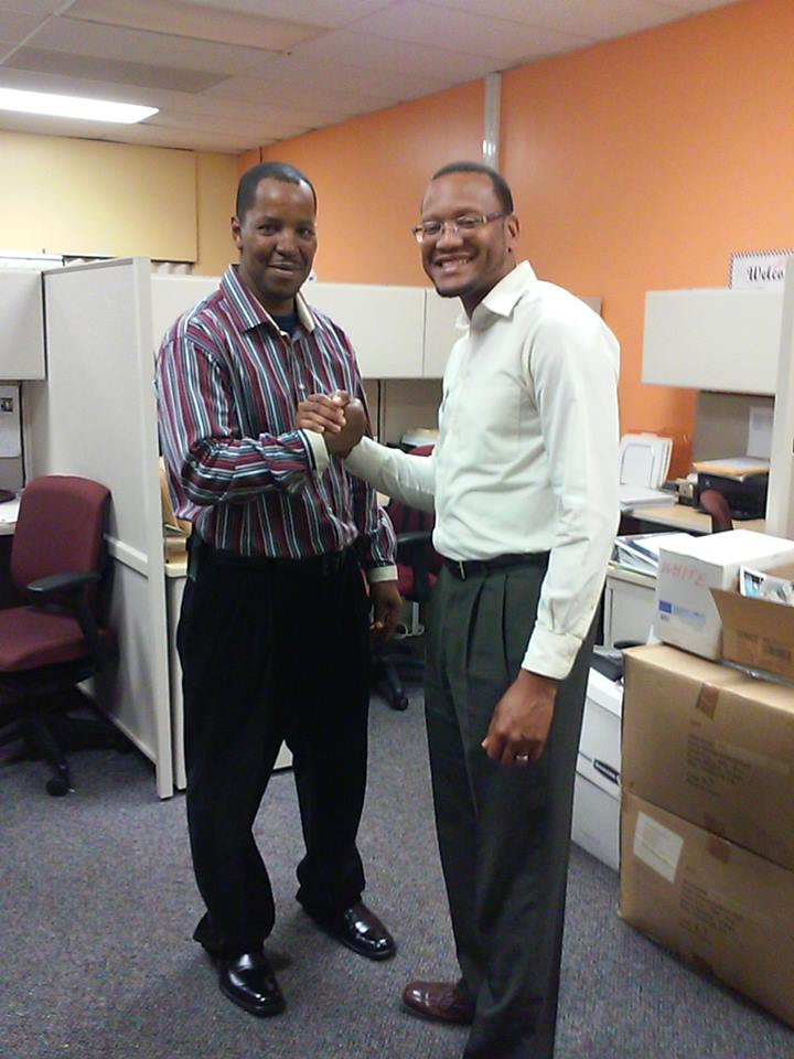 F. Kenneth Taylor w/Dontae Smith, STL YouthBuild Counselor/Recruiter - St. Louis, MO 2015